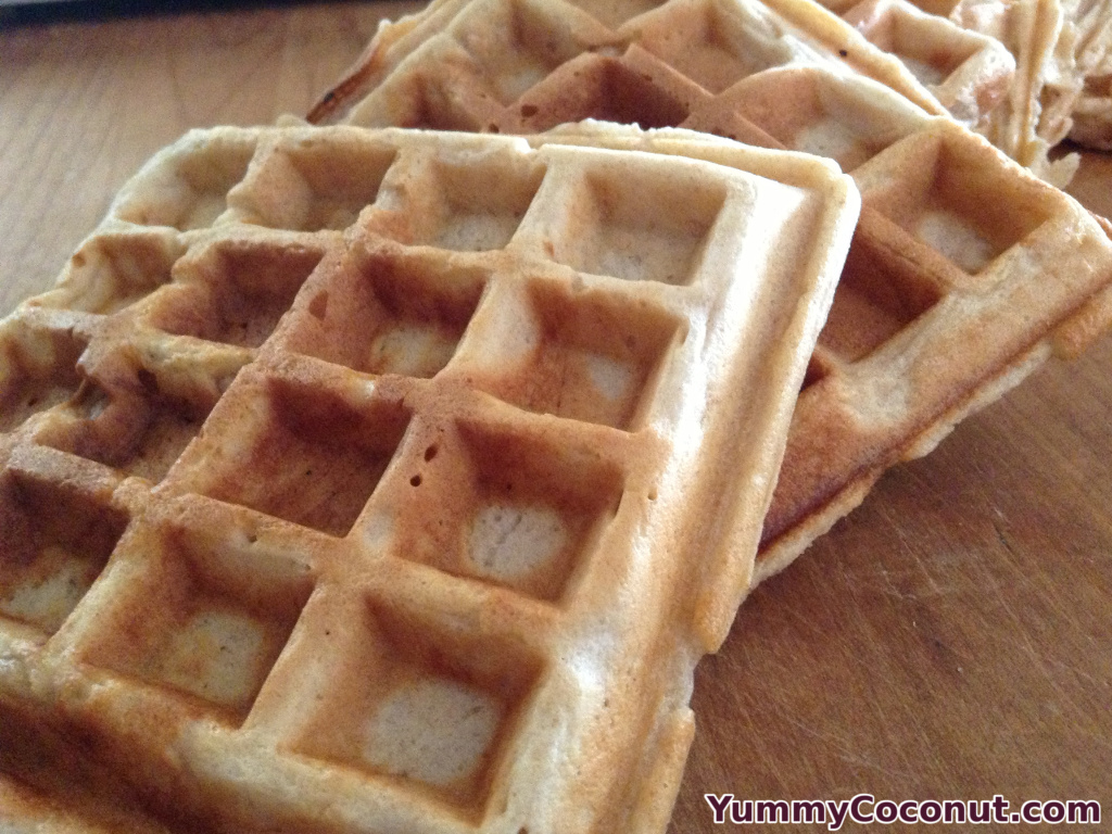 Sourdough Waffles with Coconut Milk